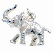 Welded Bliss Sterling 925 Silver African Elephant Charm WBC1311