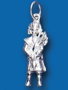Sterling Silver Bag Piper Charm Pendant