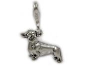 Charm Pendant Dog Dachshund 2 Sterling Silver 925