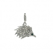 Charm hedgehog in steel by Charming Charms. up to 30