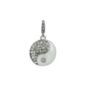 Charm yin and yang in steel by Charming Charms