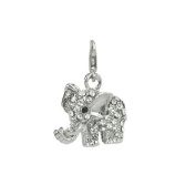 Charm elephant in steel by Charming Charms. up to 30