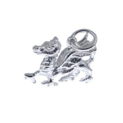 Sterling Silver 925 Solid 15 x 11mm Dragon Charm