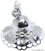 1.7g Solid .925 Sterling Silver 3D Summer Hat Charm/Pendant - Rhodium Plated