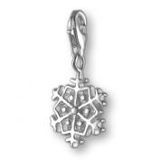 MELINA Charms clip on pendant snowflake sterling silver 925