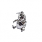 Quality Sterling Silver 1.9g Hedgehog Charm 15 x 11 x 4mm