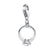 Hot Diamonds Sterling Silver Engagement Ring Charm