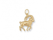 9ct Yellow Gold Capricorn Zodiac Pendant Charm
