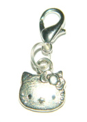 Make It With Beads Silver Hello Kitty Clip On Charm