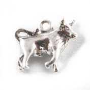 3D 925 Sterling Silver Zodiac Charm - Taurus The Bull - FREE UK POSTAGE