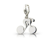 Sterling Silver Olympic Cycling Track Charm