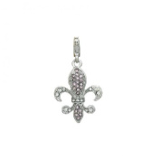 Charm Fleur-de-Lys in steel by Charming Charms