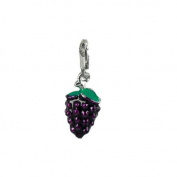 Charm bunch of grapes in steel by Charming Charms. up to 30