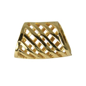 Gold Diagonals Scarf Ring
