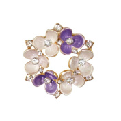Promise of Spring Lilac Enamel and Crystal Scarf Clip