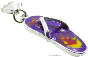 1.4g Solid .925 Sterling Silver Flip Flop Charm/Pendant - Epoxy Glazed - FREE GIFT BOX
