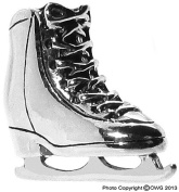 1.5g Solid .925 Sterling Silver 3D Oxidised Ice Skating Boot Charm/Pendant - FREE GIFT BOX