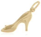 9ct Yellow Gold Stiletto Shoe Charm Pendant