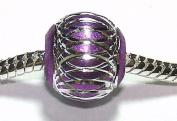 Purple Disco Ball - Charm Bead - fits Pandora, Chamilia etc style Bracelets - SpangleBead