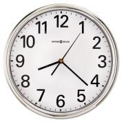 Howard Miller Hamilton Wall Clock, 30cm , Silver, 1 AA