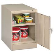 "30"" High Single Door Cabinet, 19w x 24d x 30h, Putty"