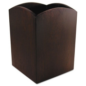 Artistic Bamboo Curved Pencil Cup, 3 x 3 4 1/4, Espresso Brown