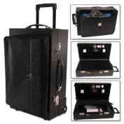 Wheeled Sample/Catalog Case, 14 1/4 x 23 1/2 x 11 1/4, With Locks, Koskin, Black
