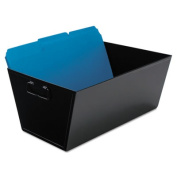 Steel File and Storage Bin, Legal, 15 1/2 x 11 1/4 x 7 3/8, Black