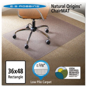 ES Robbins Natural Origins Chair Mat For Carpet, 90cm x 120cm , Clear