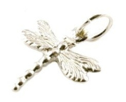 CLASSIC DESIGNS Sterling Silver 925 Dragonfly Charm N245
