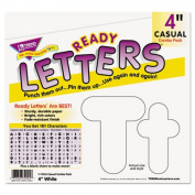 """Ready Letters Casual Combo Pack, White, 4"""", 181 per Pack"""