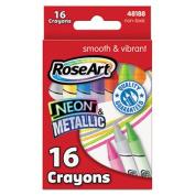 Neon & Metallic Crayons, 16/Pk
