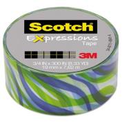 Scotch Expressions Magic Tape, 1.9cm x 760cm , Tropic Wave