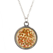 Silver Plated Chain Necklace with Pizza Design Pendant