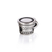 Bling Jewellery Coffee Cup 925 Sterling Silver Charm Bead .