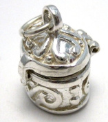 Welded Bliss Sterling 925 Silver Pill box opening Charm (not full size pill box- see size). WBC1105