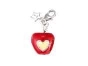 Tingle Silver Clip on Love Apple Charm
