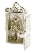 CLASSIC DESIGNS Sterling Silver 925 Opening Skeleton In Closet Charm Reveals A Skeleton N150