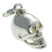 Welded Bliss Sterling 925 Silver Skull Lobster Clip On Charm WBC1289