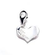 Silver 'Mum' Heart Charm