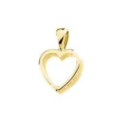 14ct Yellow Gold Heart Shaped Pendant - JewelryWeb