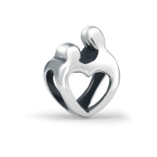 Bling Jewellery Sterling Silver Mother Child Open Heart Love Bead Fits Pandora