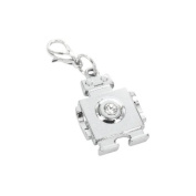 Charm robot in steel by Charming Charms. up to 30