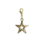 Charm star in Gold plated 18K by Charm's Goldline