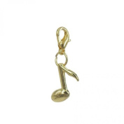 Charm musical note in Gold plated 18K by Charm's Goldline