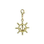 Charm rudder in Gold plated 18K by Charm's Goldline