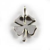 3D 925 Sterling Silver Charm - Four Leaf Clover - FREE UK POSTAGE