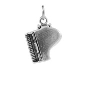 TheCharmWorks Sterling Silver Opening Grand Piano Charm