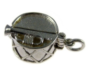 Welded Bliss Sterling 925 Silver Jazz Age Drum Opening Charm. Dancing Couple inside. WBC1093