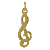 Sayers London 9ct Gold Treble Clef Music Charm